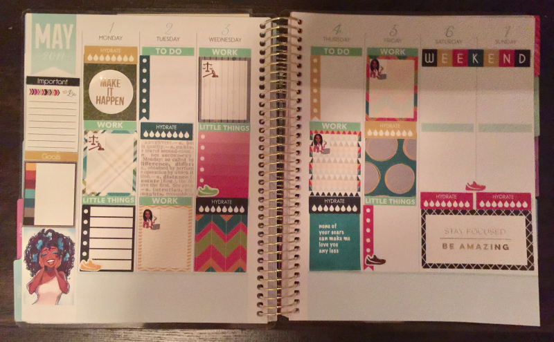 Planner 1st week May